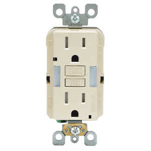 Leviton  20 amps 125 volt Light Almond  GFCI Outlet  5-20R  1 pk