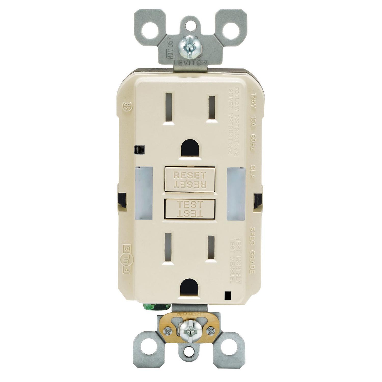 Leviton 20 Amps 125 Volt Duplex Light Almond Gfci Outlet 5-20r 1 Pk