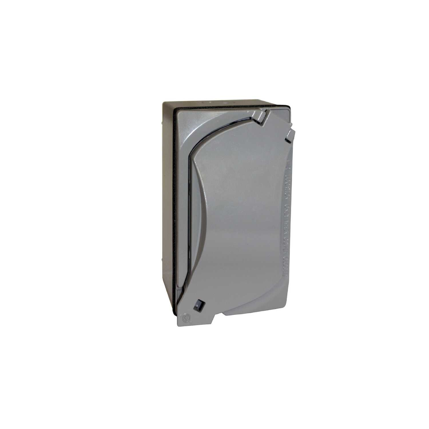 Sigma  2-13/16 in. GFCI Outlet Kit  Gray  Aluminum  Rectangle