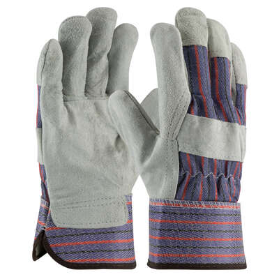 MCR Safety  L  Leather Palm  Gray  Gloves