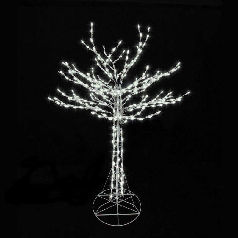 Celebrations  Bare Branch Tree  LED Christmas Decoration  White  Metal  1 each