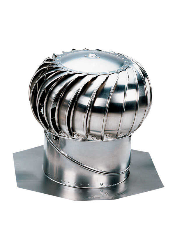 Air Vent  Mill  Silver  Steel  Turbine and Base