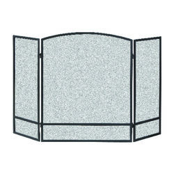 Panacea  Black  Matte  Steel  Fireplace Screen