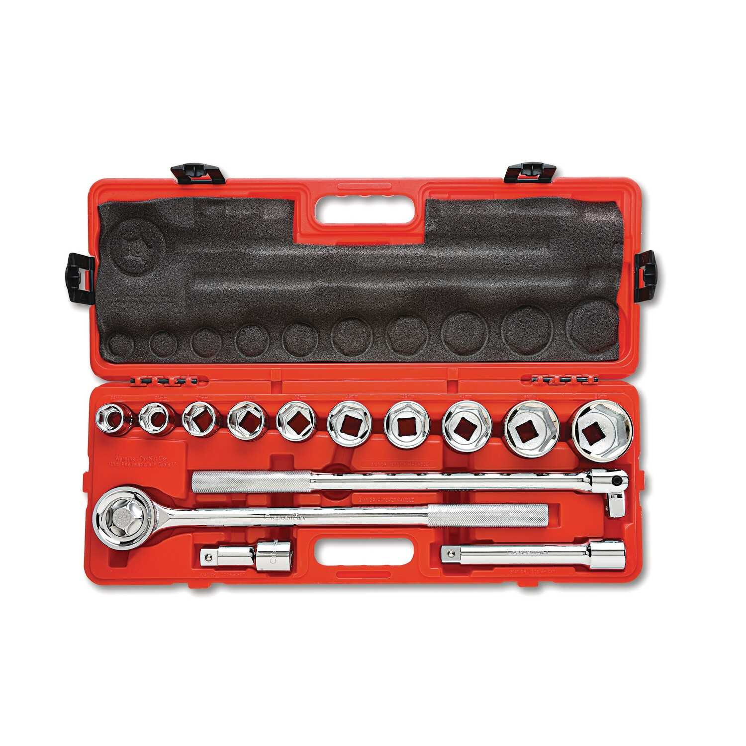 Crescent  Assorted Sizes  x 3/4 in. Drive   Metric  6 and 12  Mechanics Tool Set  14 pc.