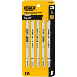 DeWalt 4 in. High Carbon Steel T-Shank Jig Saw Blade 10 TPI 5 pk