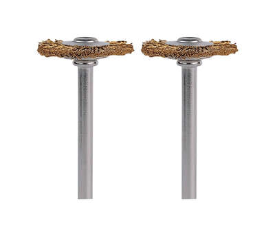 Dremel 3/4 in. x 1.7 in. L x 1/8 in. Dia. Brass Brass Brush 15000 rpm 2 pk