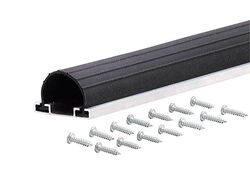 M-D Building Products  Black  Aluminum/Vinyl  Weather Stripping  For Garage Door 18 ft. L x 2-3/4 in