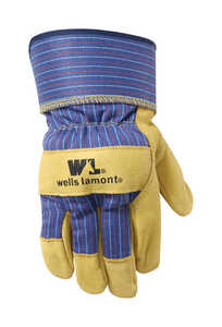 Wells Lamont  Men's  Leather  Palm  Palomino  M  Gloves