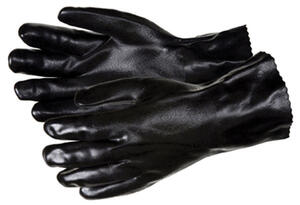 MCR Safety  Unisex  PVC  Dipped  Work Gloves  Black  L  1 pair