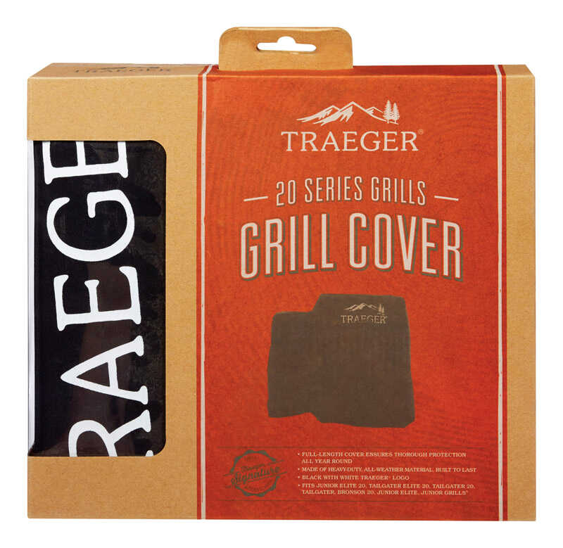 Traeger  Black  Grill Cover  21 in. W x 34 in. D x 32 in. H For Form fitted for Tailgater 20-TFB30LU