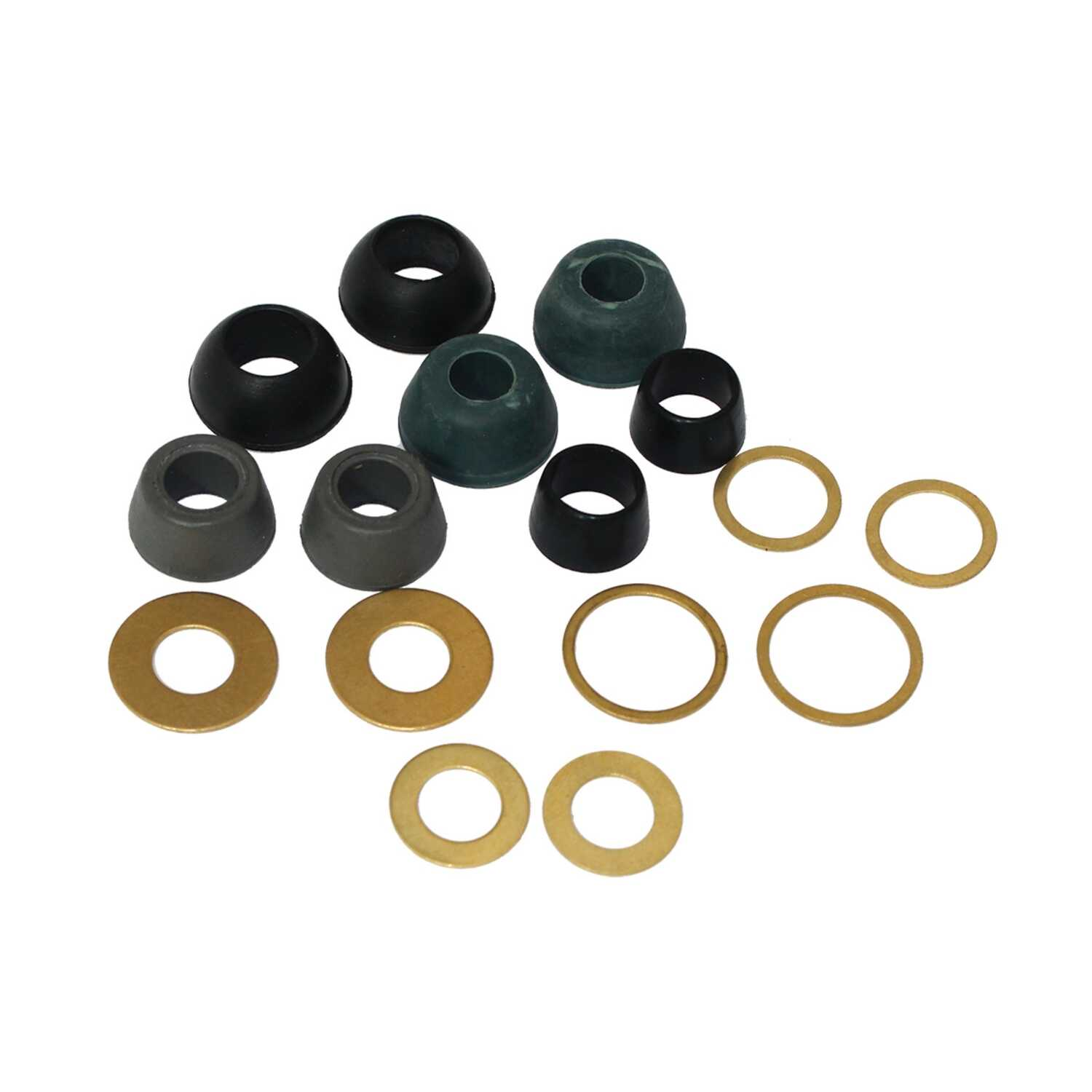 Ace  assort in. Dia. Rubber  Cone Washer and Ring Assortment  5