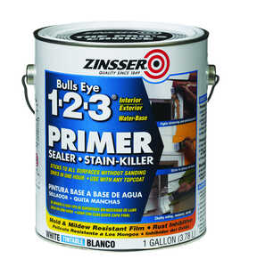 Zinsser  Bulls Eye 123  White  Primer and Sealer  1 gal. For All Surfaces