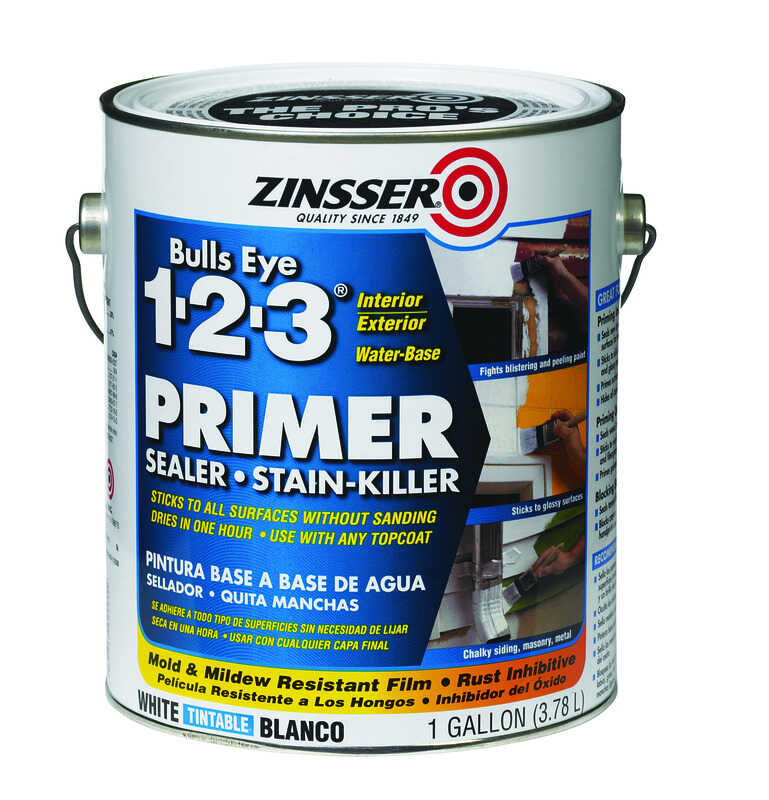 Zinsser  Bulls Eye 123  White  Primer and Sealer  For All Surfaces 1 gal.
