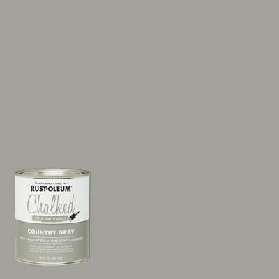 Rust-Oleum  Chalked  Ultra Matte  Country Gray  Water-Based  Acrylic  Chalk Paint  30 oz.