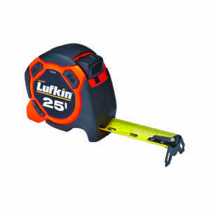 Lufkin  25 ft. L x 1 in. W Power Return Tape Measure  1 pk Orange