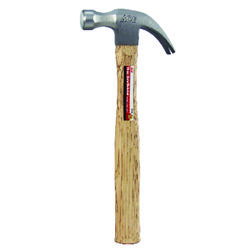 Ace  16 oz. Smooth Face  Claw Hammer  Hickory Handle