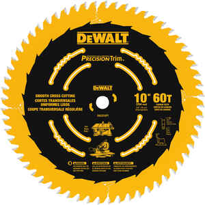 DeWalt  10 in. Dia. x 5/8 in.  Carbide Tipped  Precision Trim  Circular Saw Blade  60 teeth 1 pk