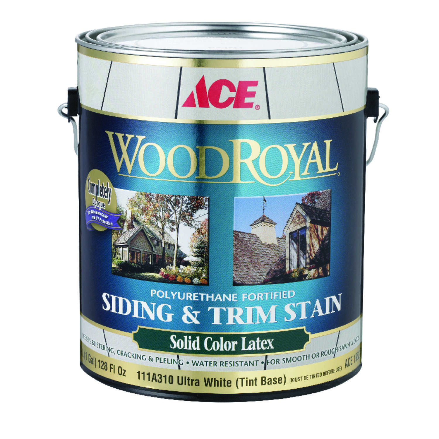 Ace  Wood Royal  Solid  Tintable Flat  Ultra White Base  Tint Base  Acrylic Latex  Siding and Trim S