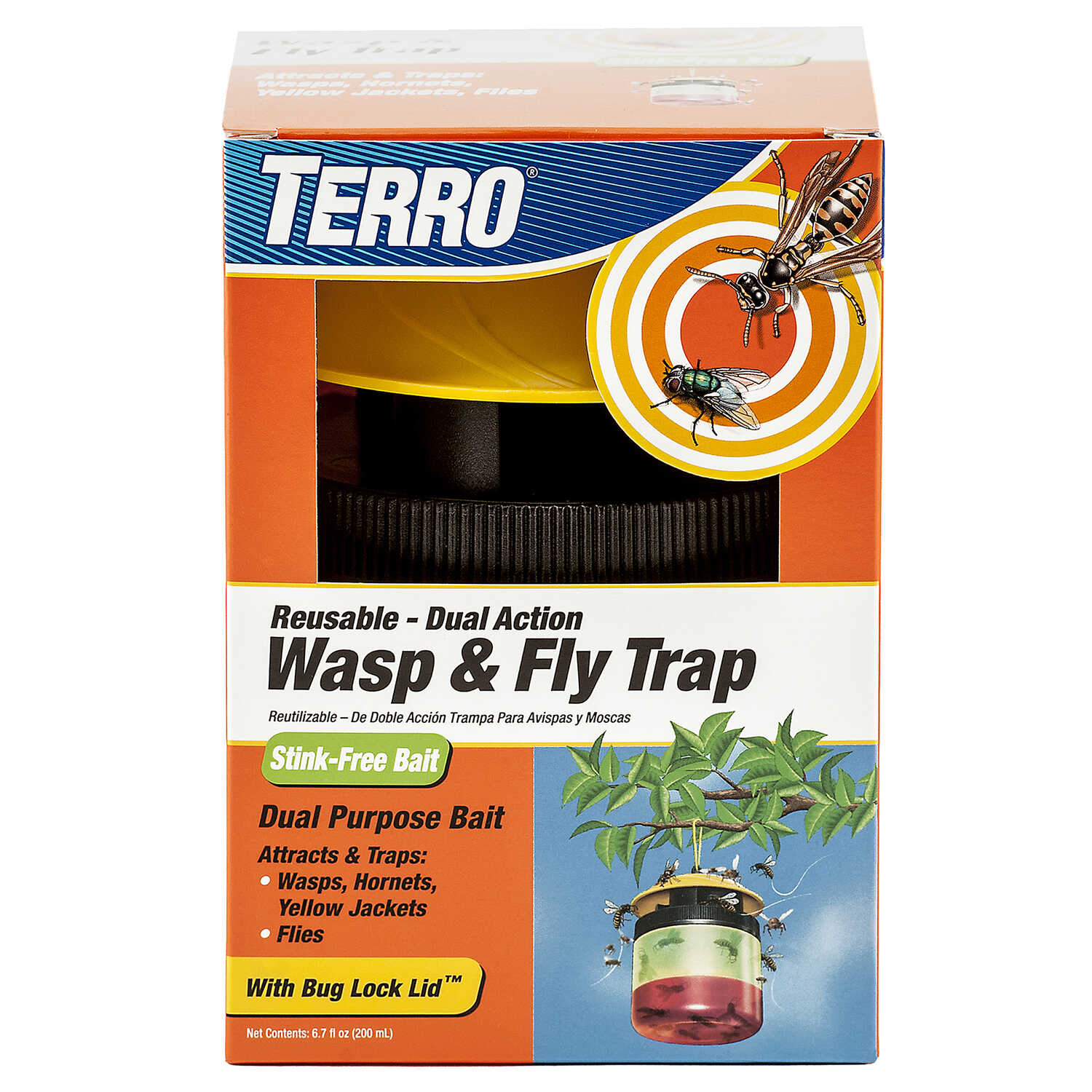 TERRO  Wasp and Fly Trap  6.7 oz.