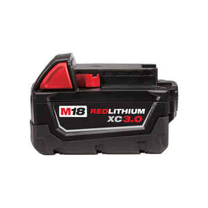 Milwaukee  M18 REDLITHIUM XC  18 volt 3 Ah Lithium-Ion  Battery Pack  1 pc.