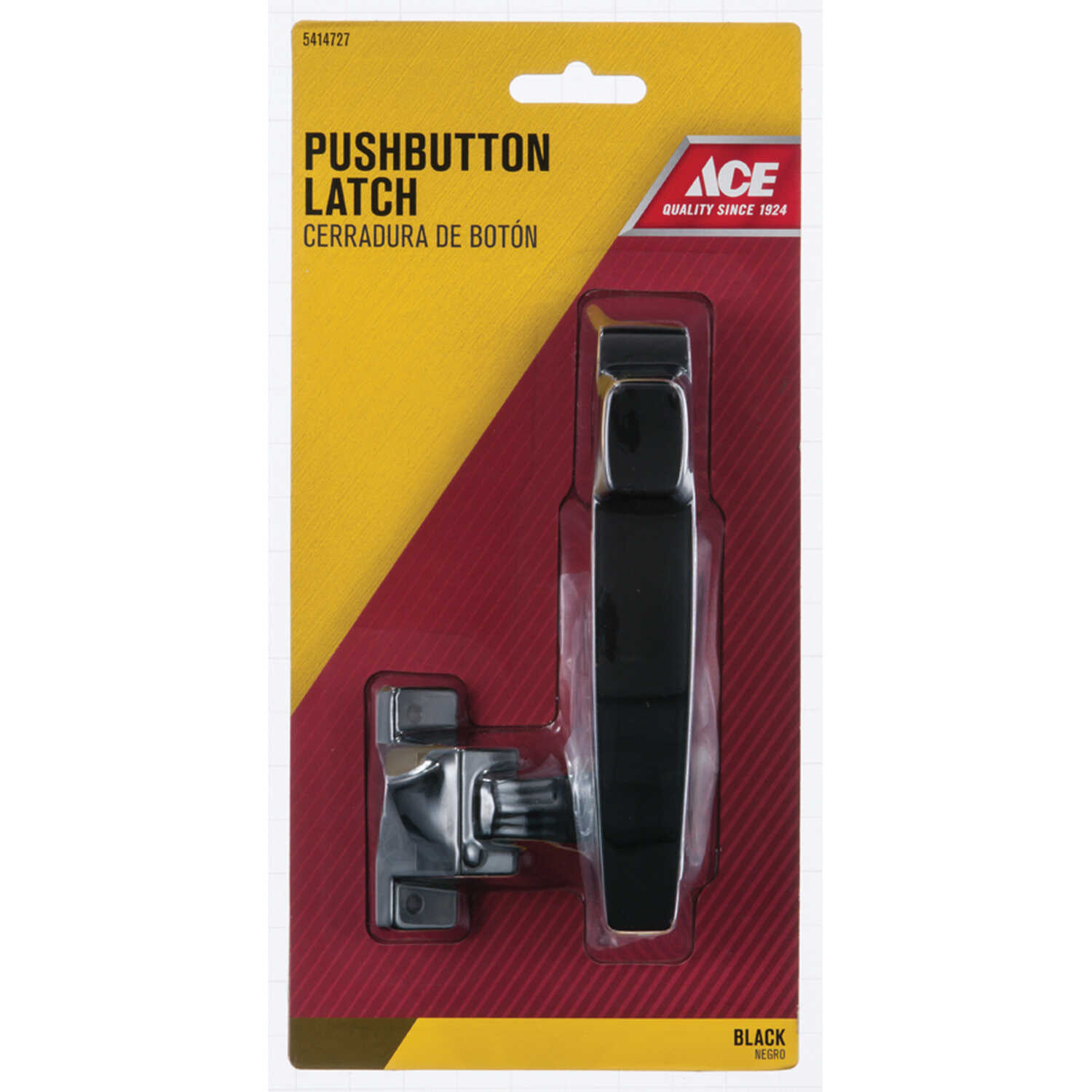 Ace  Black  Black  Steel  Push Button Latch  1 pk