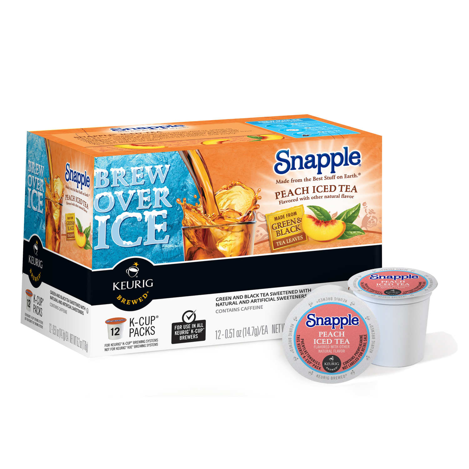 Keurig  Snapple  Peach Iced Tea  Tea K-Cups  12 pk
