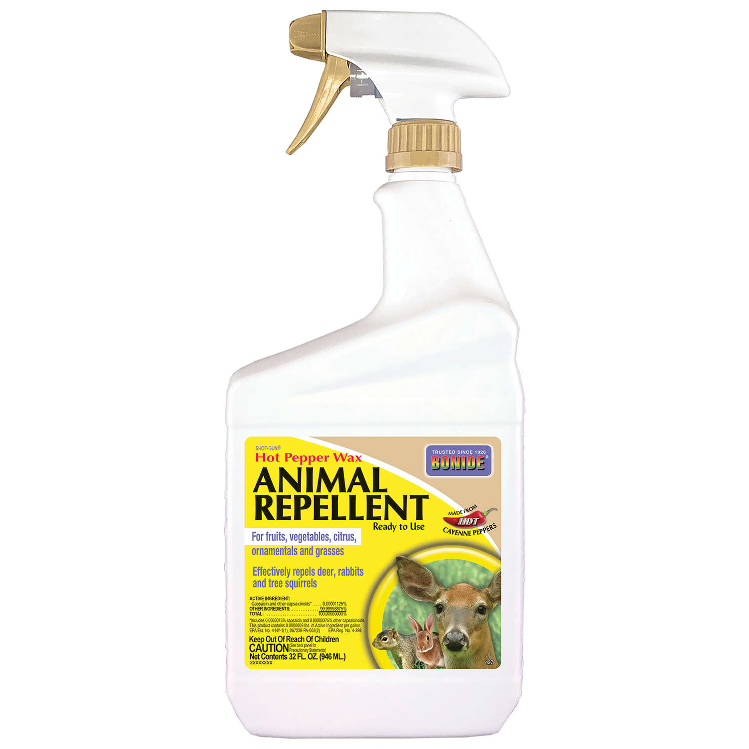 Bonide  Hot Pepper Wax  Animal Repellent  Spray  For Most Animal Types 32 oz.