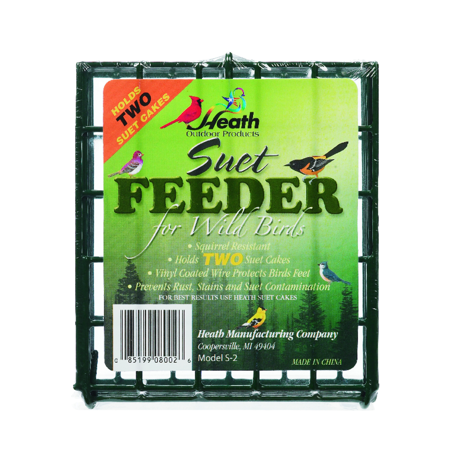Heath  Wild Bird  1  Metal  Suet  Bird Feeder