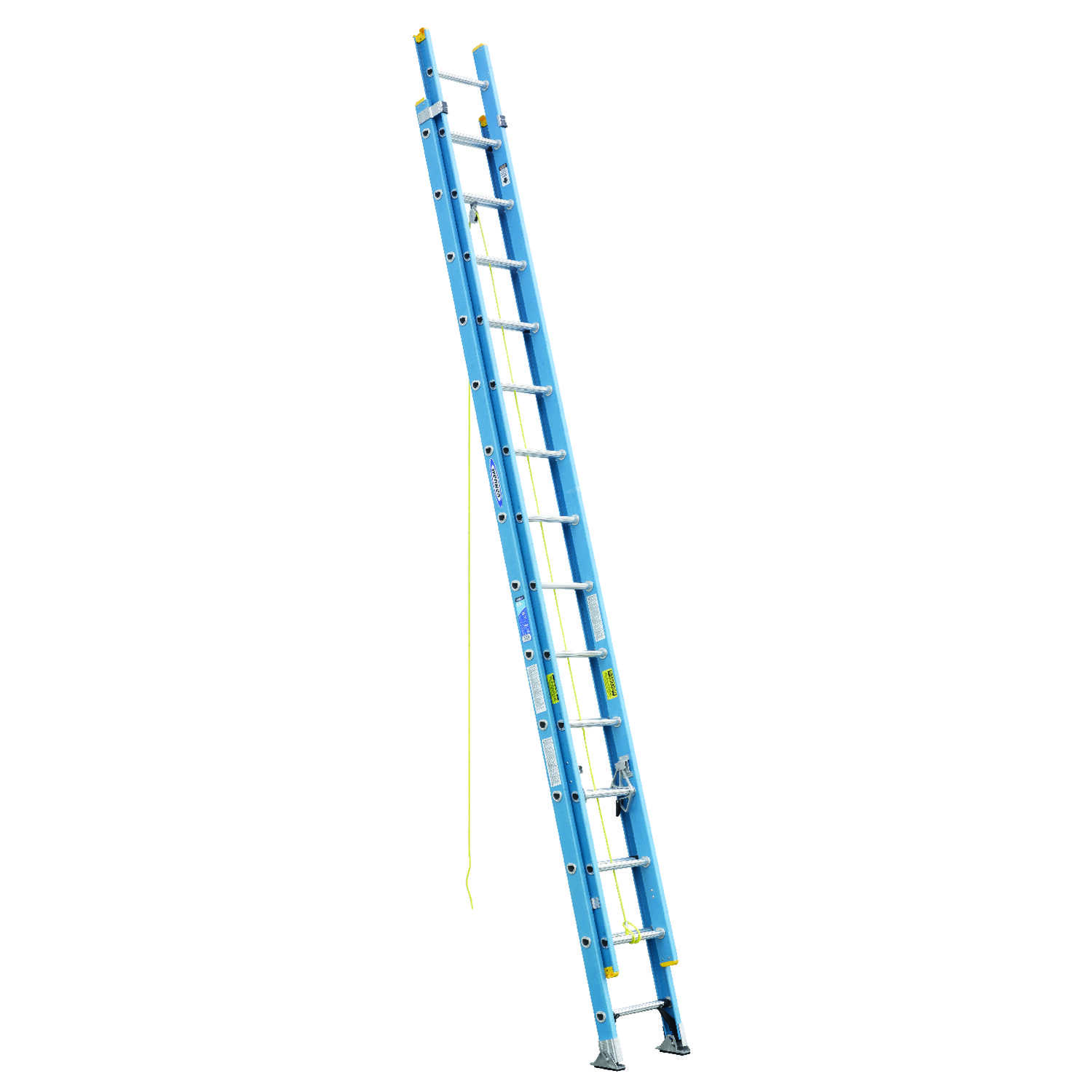 Werner  28 ft. H x 18.13 in. W Fiberglass  Extension Ladder  Type I  250 lb.