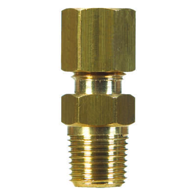 JMF  3/8 in. Compression   x 3/8 in. Dia. Male  Brass  Connector