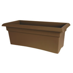 Bloem  Terrabox  9.8 in. H x 11.7 in. W x 26.3 in. D Resin  Veranda  Planter  Chocolate