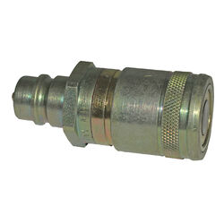 Apache 0.5 in. Dia. 3000 psi Steel Flat Face Hydraulic Adapter