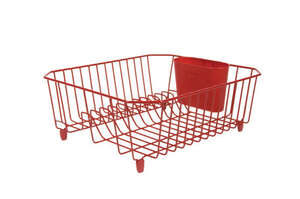 Rubbermaid  12.4 in. W x 5.4 in. H x 14.3 in. L Steel  Dish Drainer  Red