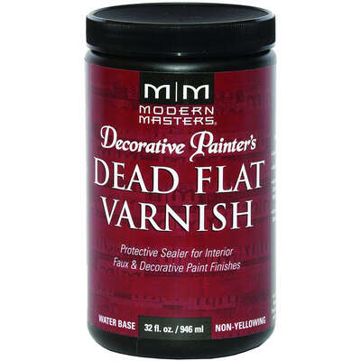 Modern Masters  Semi-Gloss  Clear  Water-Based  Dead Flat Varnish  32 oz.