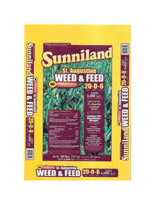 Sunniland  Organic 20-0-6  Weed and Feed  For St. Augustine 20 lb. 5000 sq. ft.