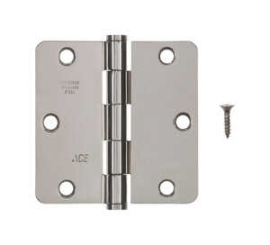 Ace  3-1/2 in. L Stainless Steel  Steel  Residential Door Hinge  1 pk