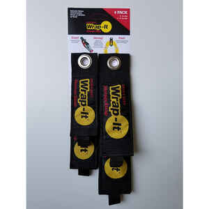 Wrap-It  2.5 in. W x 16 in. L Black  Storage Straps  50 lb. 4 pk