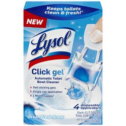 Lysol  Click Gel  Fresh Scent Automatic Toilet Bowl Cleaner  0.68 oz. Gel