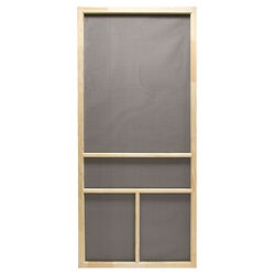 Precision  Dogwood  80-1/2 in. H x 30 in. W Dogwood  Natural Wood  Wood  Screen Door