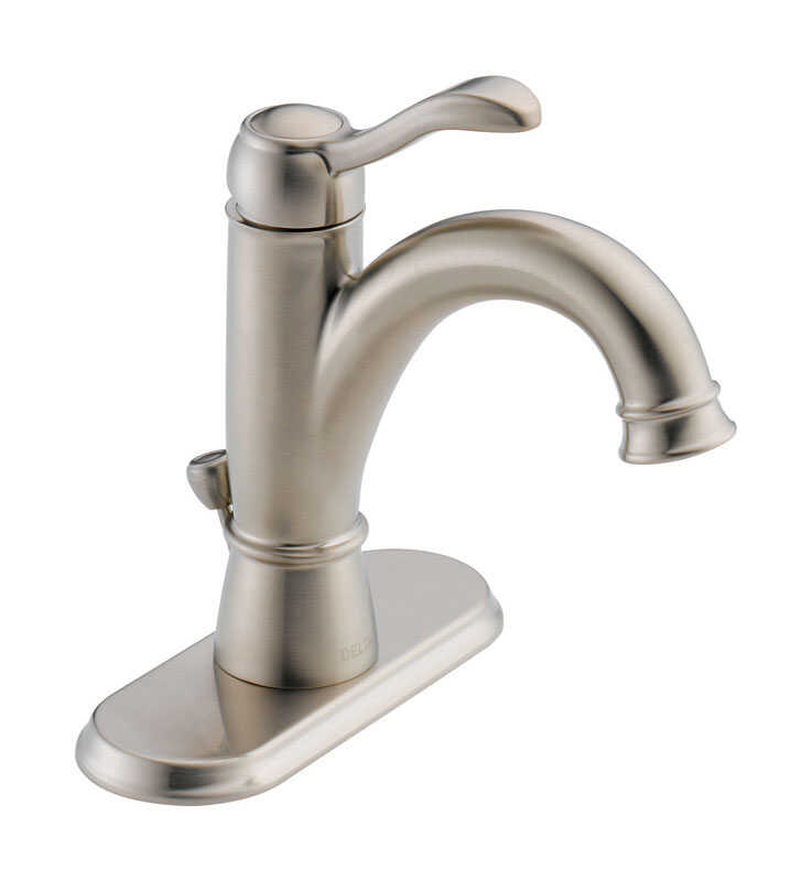 Delta  Porter  Brushed Nickel  Single Handle  Lavatory Pop-Up Faucet  4 in.