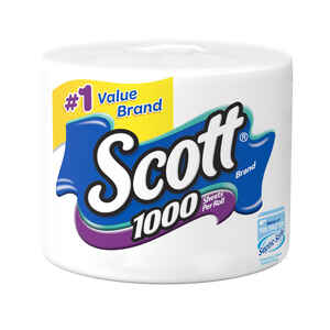 Scott  Bath Tissues  1 roll 1000 sheet 104.8 ft.