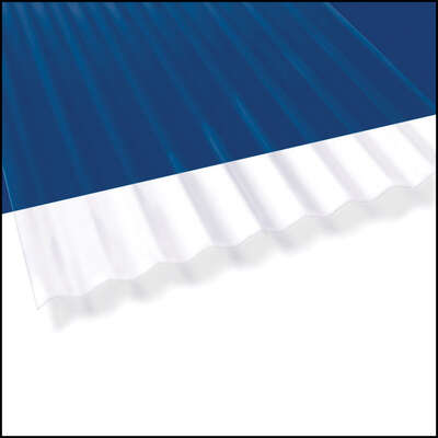 Palruf  26 in. W x 144 in. L PVC  Roof Panel  Clear