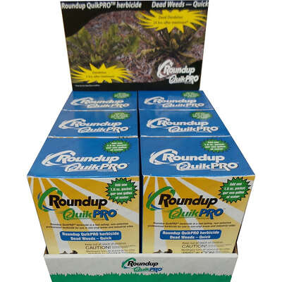 Roundup  QuikPro Weed & Grass  Herbicide  Concentrate  5 X 1.5 oz. packs per box
