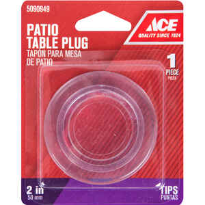 Ace  Plastic  Patio Table Umbrella Plug  Clear  Round  2 in. W