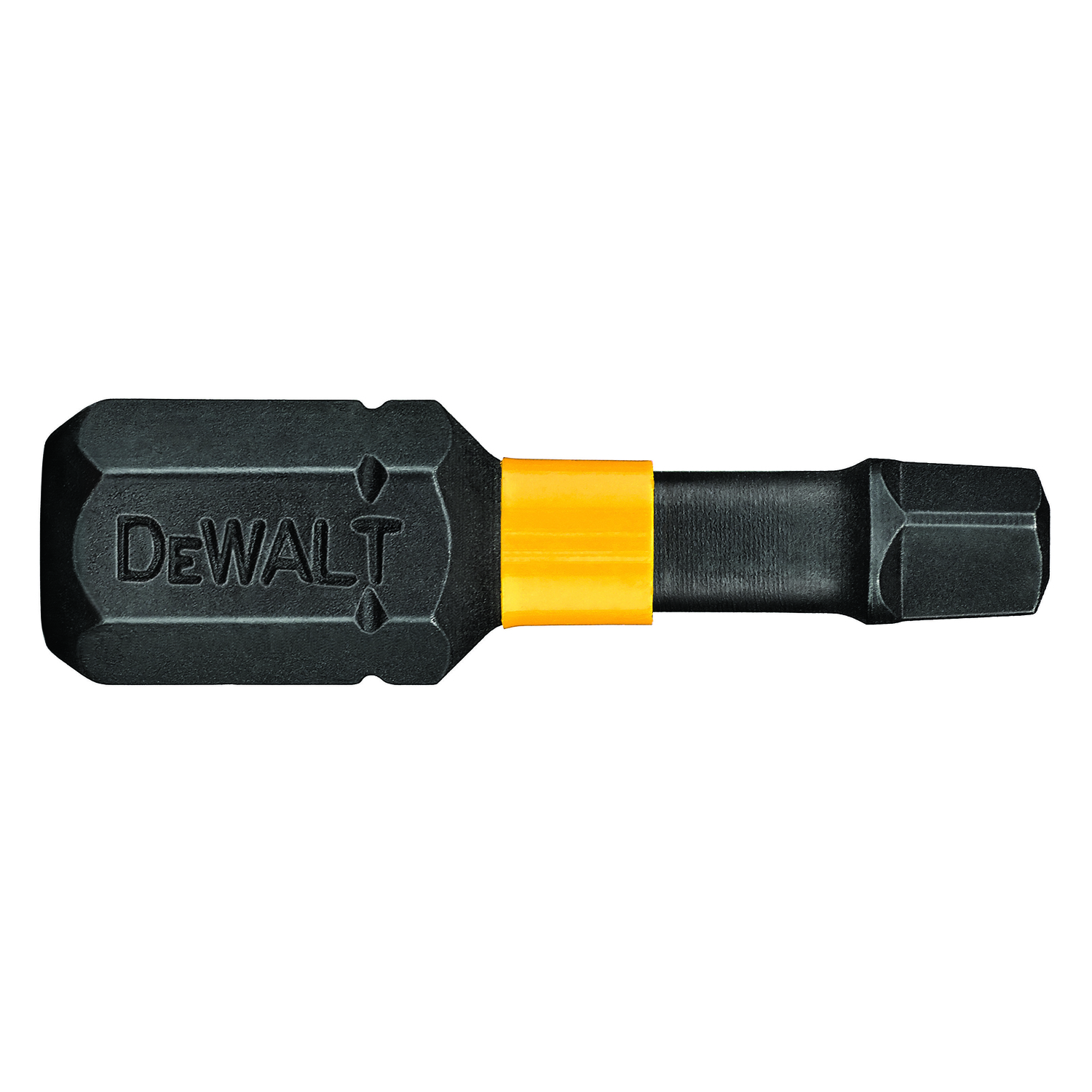 DeWalt  Impact Ready  Square  #1 in.  x 1 in. L Screwdriver Bit  1/4 in. Black Oxide  1 pc.