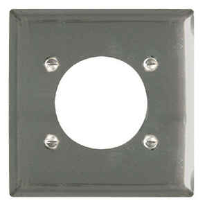 Pass & Seymour  White  1 gang Steel  Wall Plate  1 pk
