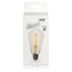 FEIT Electric  ST19  E26 (Medium)  LED Bulb  Soft White  60 Watt Equivalence 1 pk