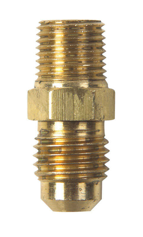 JMF  1/4 in. Flare   x 1/8 in. Dia. Male  Brass  Flare Adapter