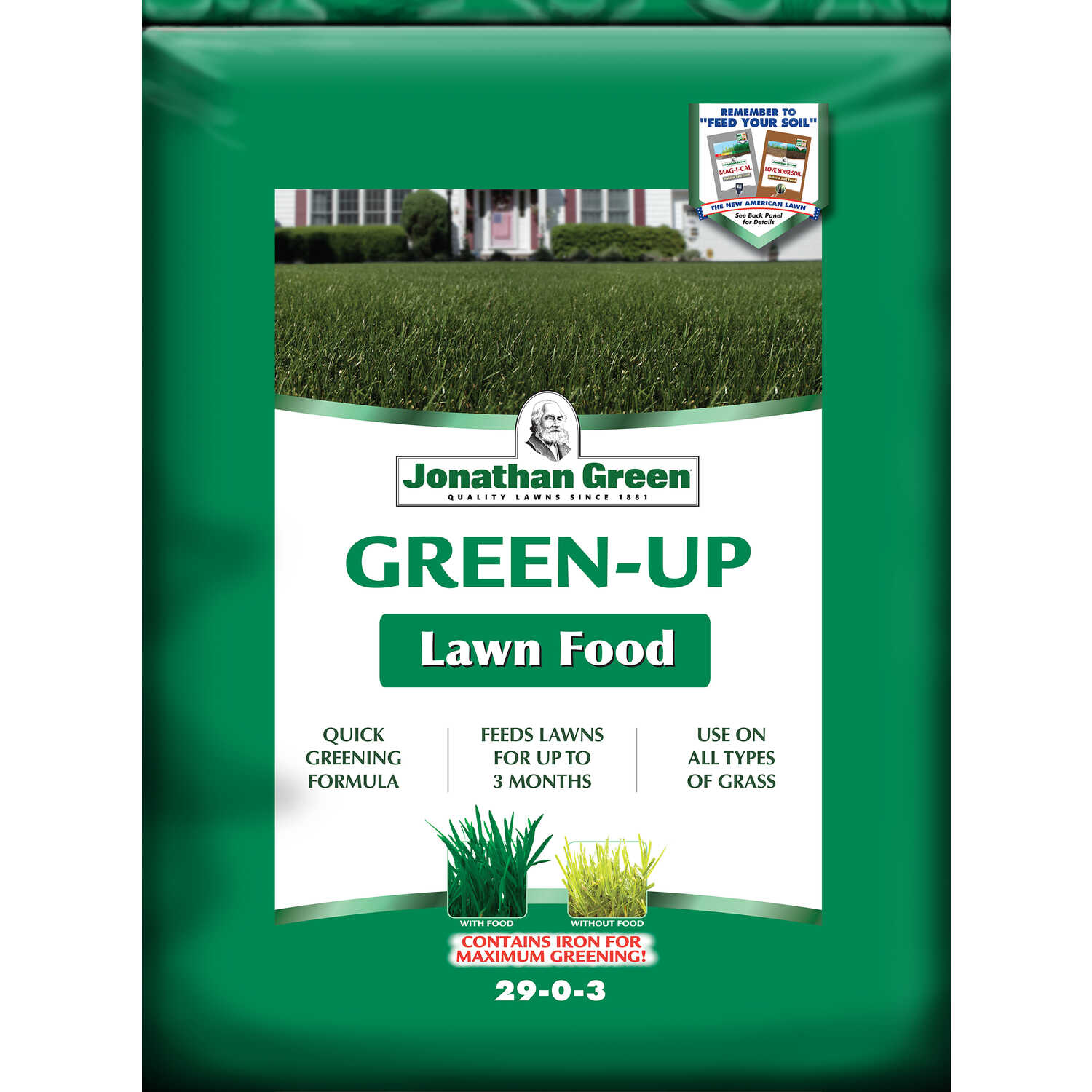 Jonathan Green  Green-Up  29-0-3  Lawn Fertilizer  For All Grass Types 15 lb. 5000 sq. ft.