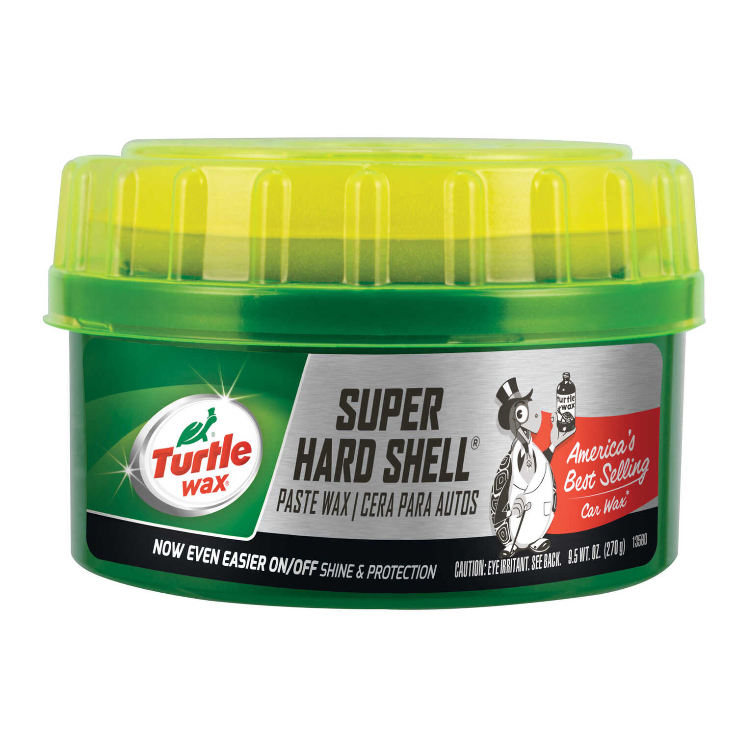 Turtle Wax  Super Hard Shell  Wax  Automobile Wax  9.5 oz. For All Finishes